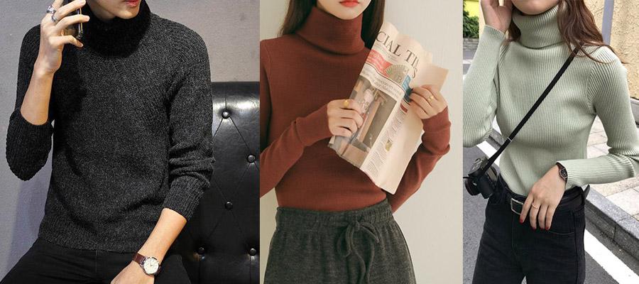 法式元素-纯色毛衣