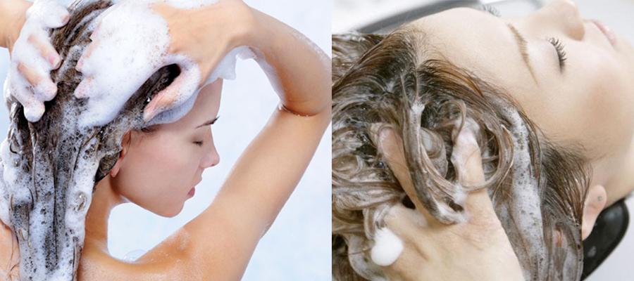 长头发美女-洗头方法