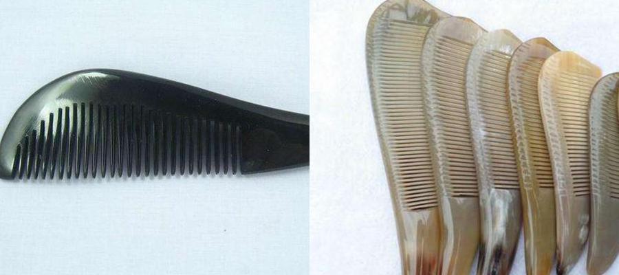 长头发美女-梳子的挑选