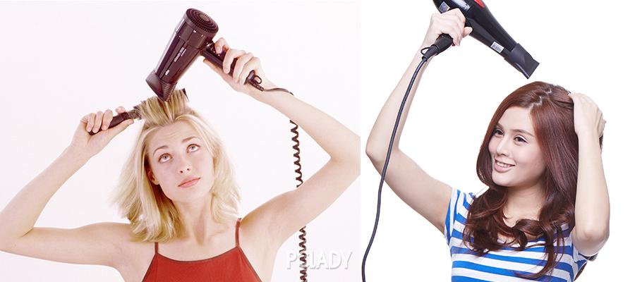长头发美女-吹头发的技巧