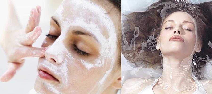 护肤小秘诀-脸部清洁后涂抹肌底液