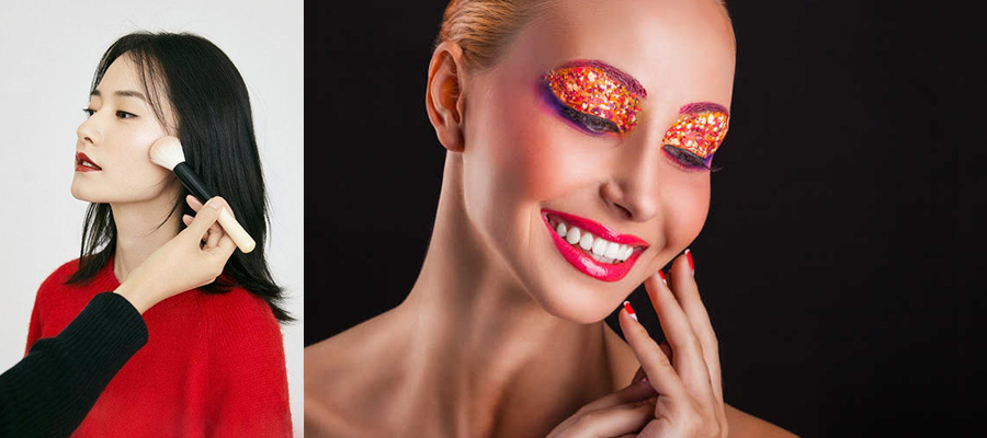 彩妆女孩-用隔离霜彩妆护肤效果好