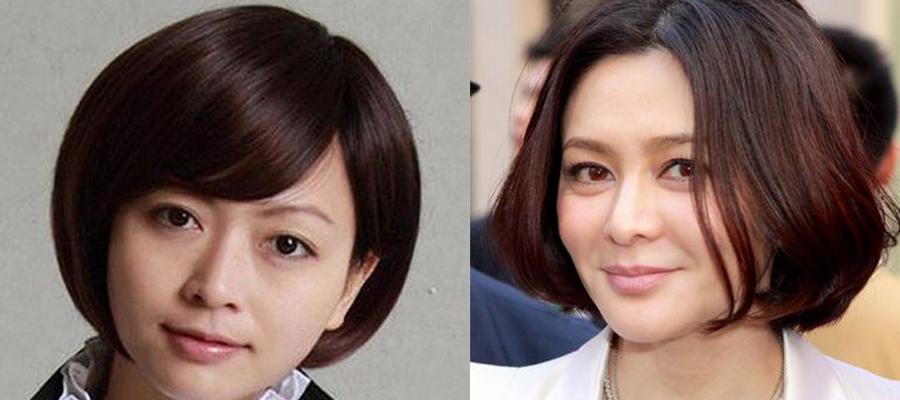40至50岁女人短发发型-圆脸的头发型