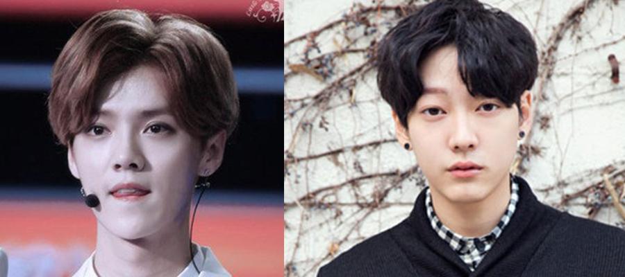 韩国中分刘海发型