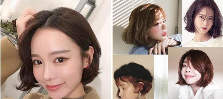 齐脸的微卷短发发型