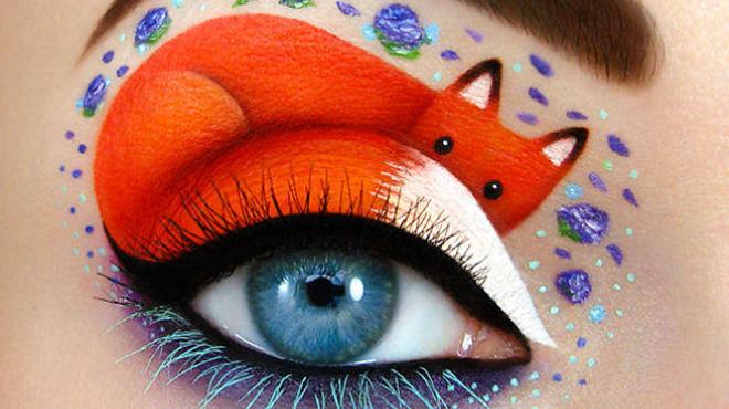 狐狸眼妆的画法步骤图-教一款超级魅惑的勾魂眼线妆